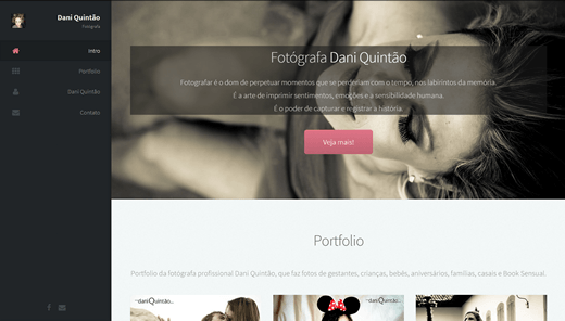 Website for photgrapher Daniela Quintao - daniquintao.com.br - HTML5 - CSS3 - Javascript