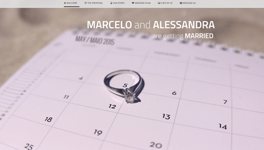 Website for my Weeding - marcelomoreira.net/wedding - HTML5 - CSS3 - Javascript