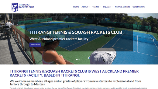 Website for Titirangi Tennis Club - titirangiracketsclub.co.nz - HTML5 - CSS3 - Javascript - DRUPAL